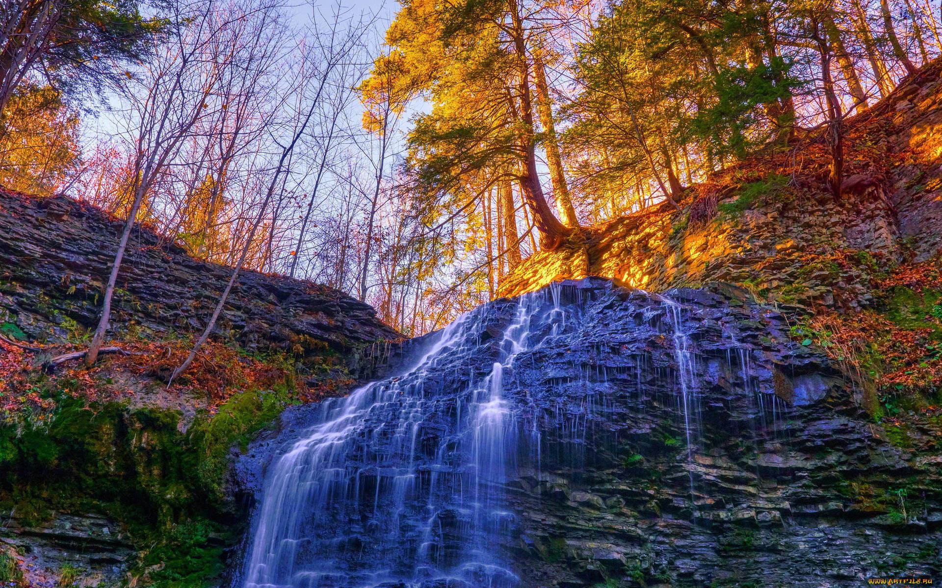 самом начале осенний водопад фото простых французов